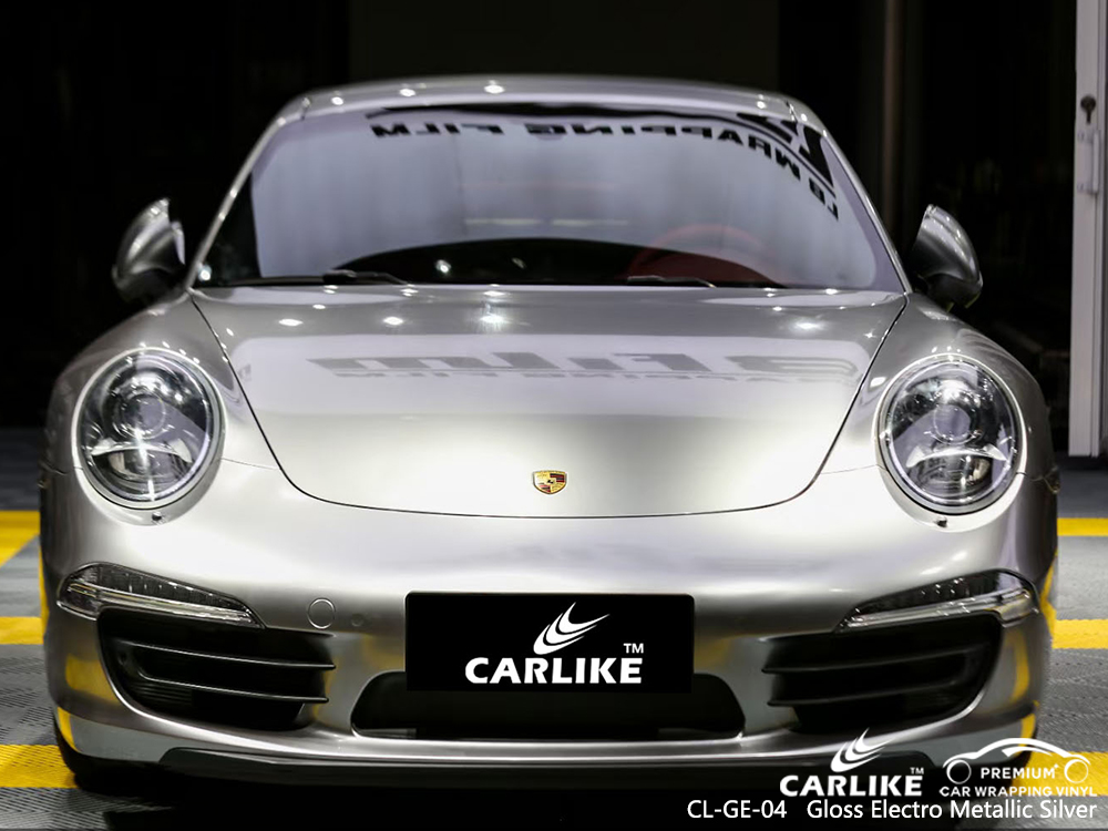 CL-GE-04 gloss electro metallic silver automobile vehicle wrapping for PORSCHE Marikina Philippines