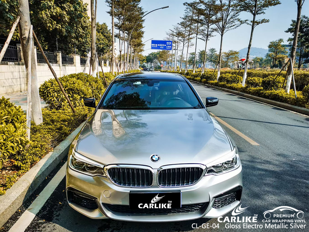 CL-GE-04 gloss electro metallic silver car wrapping for BMW Tarlac Philippines