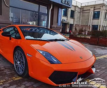 CL-GE-11 غلاف فينيل لامع برتقالي لامع كهربائي شديد اللمعان لـ LAMBORGHINI Los Banos الفلبين