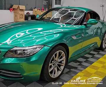 CL-GE-30 gloss electro metallic emerald green car wrap film for BMW Mandaluyong Philippines