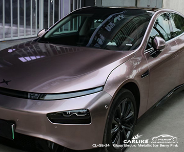 CL-GE-34 films de vinyle d'automobile rose électro métallisé brillant de baies de glace pour XPENG Muntinlupa Philippines