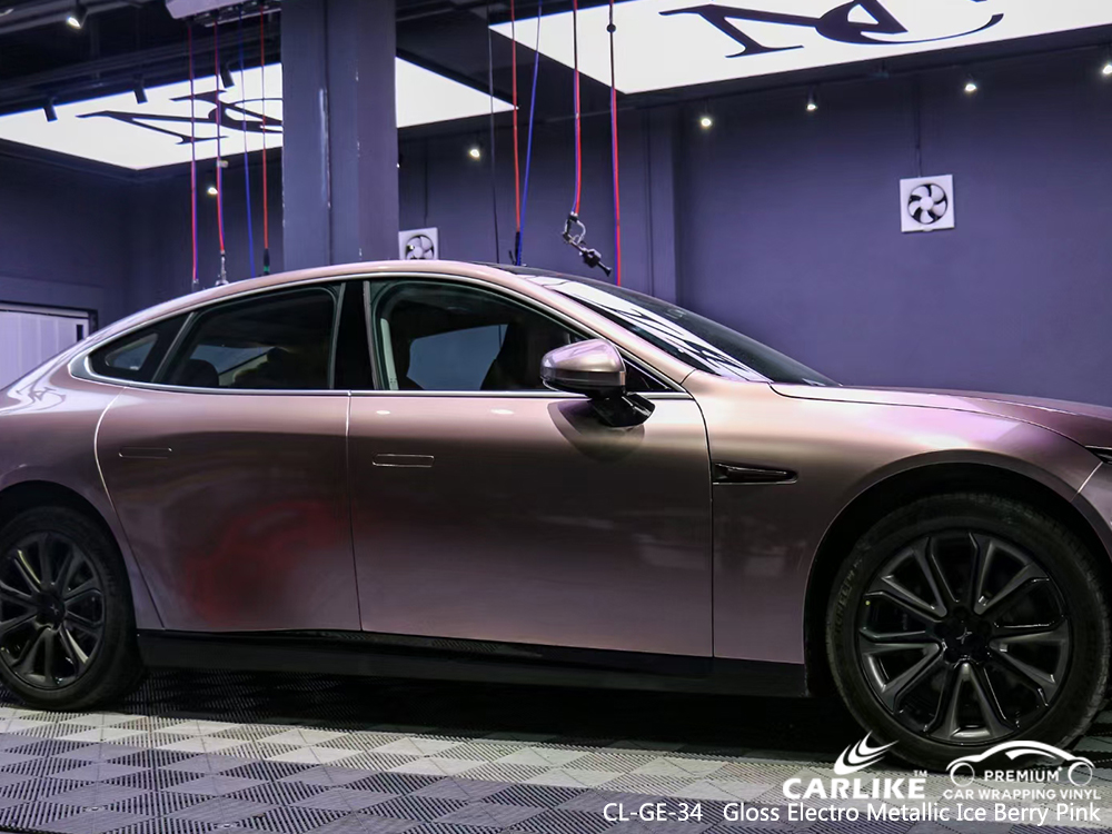CL-GE-34 gloss electro metallic ice berry pink automobile vinyl films for XPENG Muntinlupa Philippines
