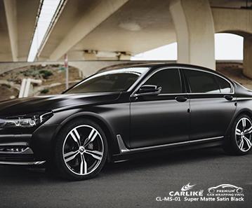 CL-MS-01 süper mat saten siyah arabamı BMW Lucena Filipinler için sarın
