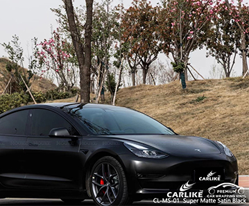 CL-MS-01 super matte satin black vinyl wrapping for TESLA Cabuyao Philippines