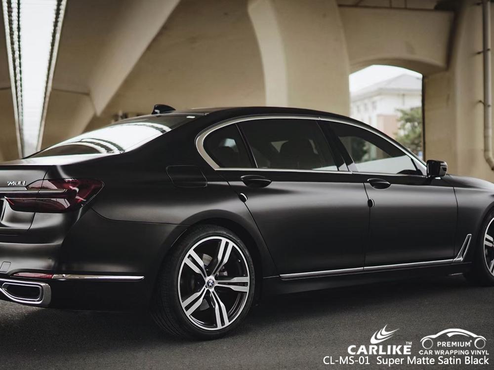 CL-MS-01 super matte satin black wrap my car for BMW Lucena Philippines