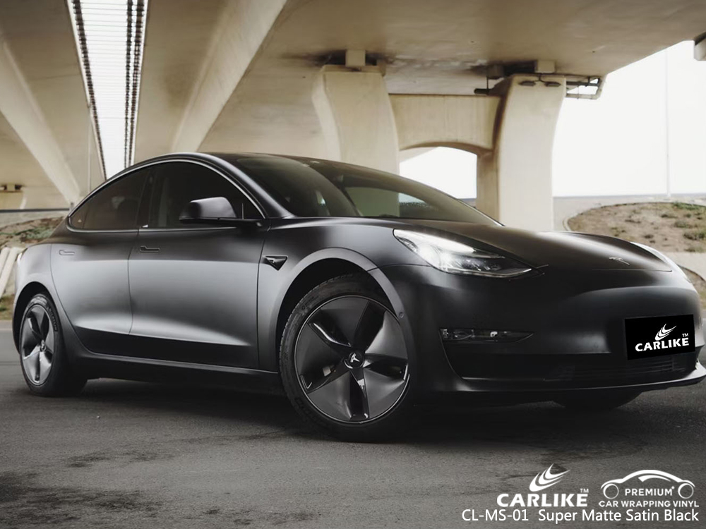 CL-MS-01 super matte satin black car foil for TESLA Dagupan Philippines