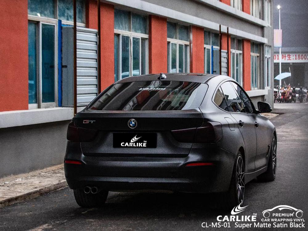 CL-MS-01 super matte satin black body wrap car supplier for BMW San Fernando Philippines