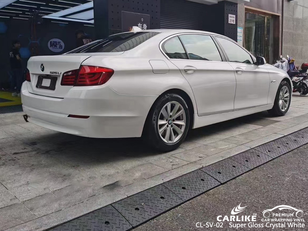 CL-SV-02 super gloss crystal white vinyl wrapping for BMW Iloilo Philippines