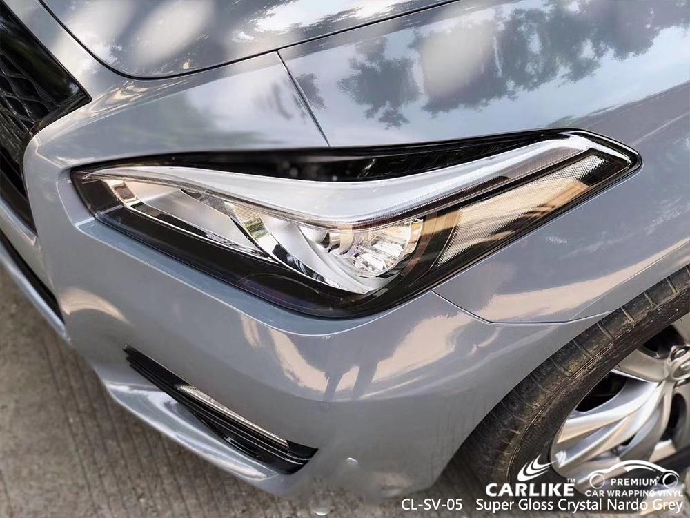 CL-SV-05 super gloss crystal nardo grey vinyl wrap for INFINITI Tacloban Philippines