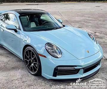 CL-SV-40 Superglanz Kristall Porzellan blau Vinyl Wrap mein Auto für PORSCHE Meycauayan Philippinen