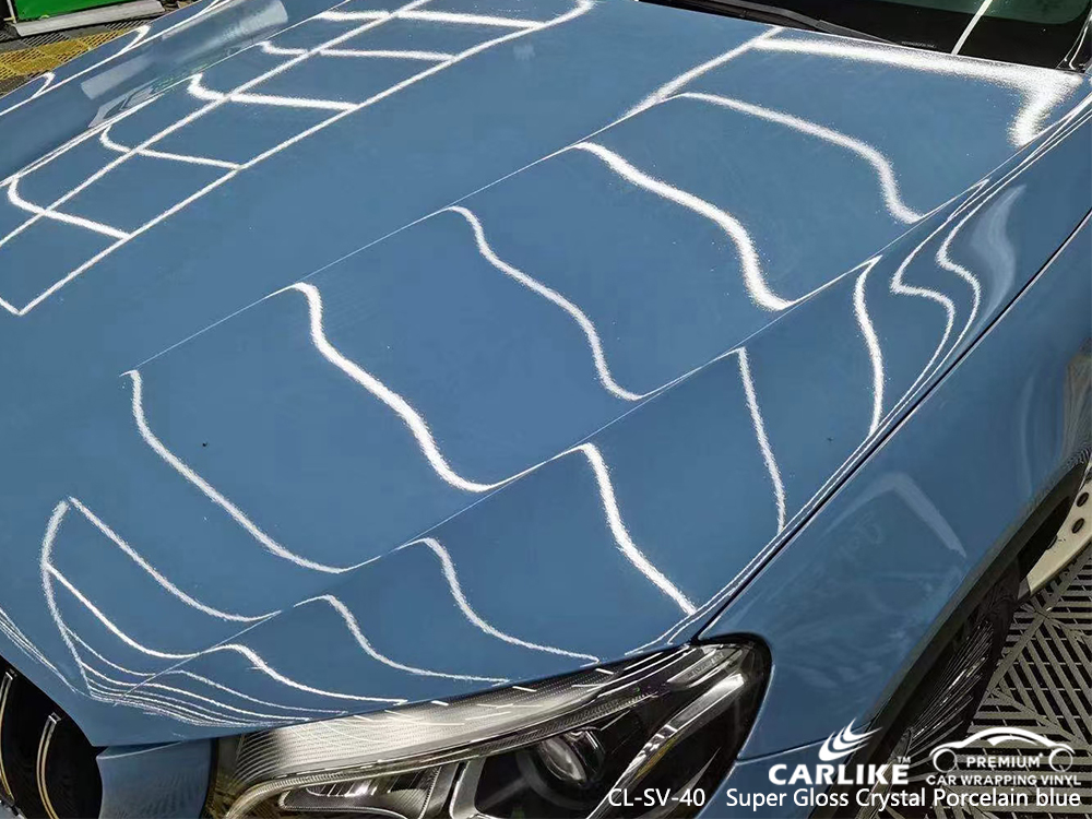 CL-SV-40 super gloss crystal porcelain blue vinyl sticker paper for MERCEDES-BENZ Laoag Philippines