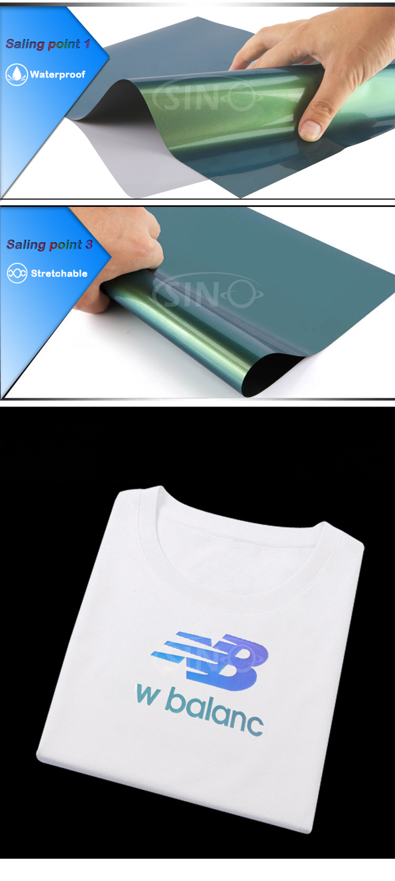 Heat Transfer Vinyl PU PVC Glitter Metallic Flock Hologram HTV For T-shirt