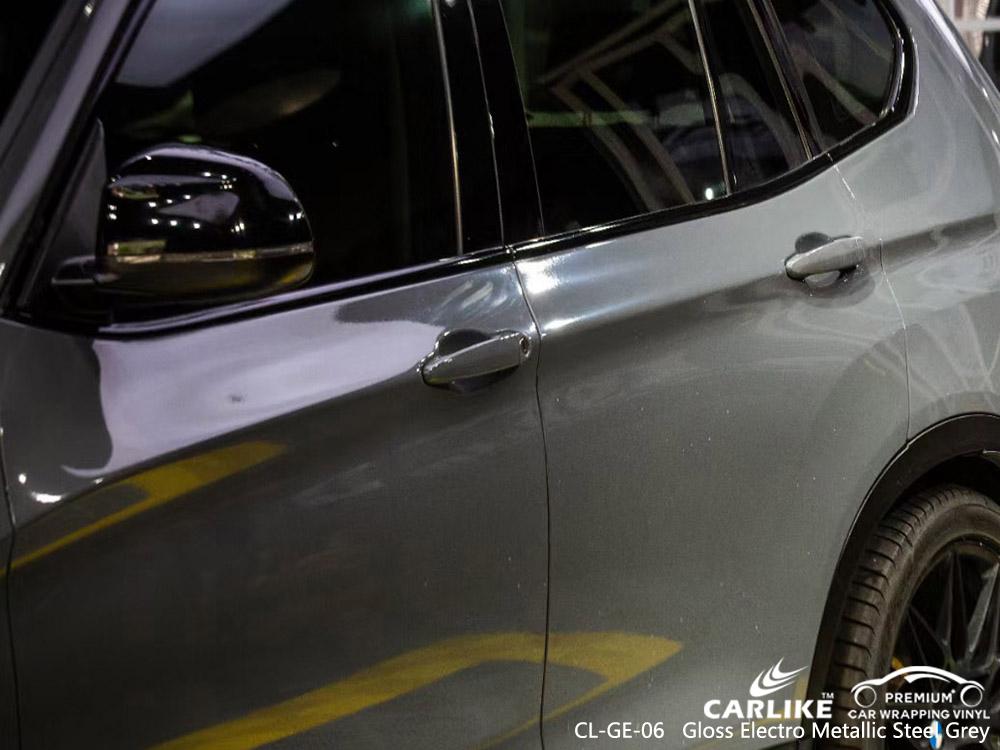 CL-GE-06 gloss electro metallic steel grey car decoration vinyl for BMW Tuguegarao Philippines