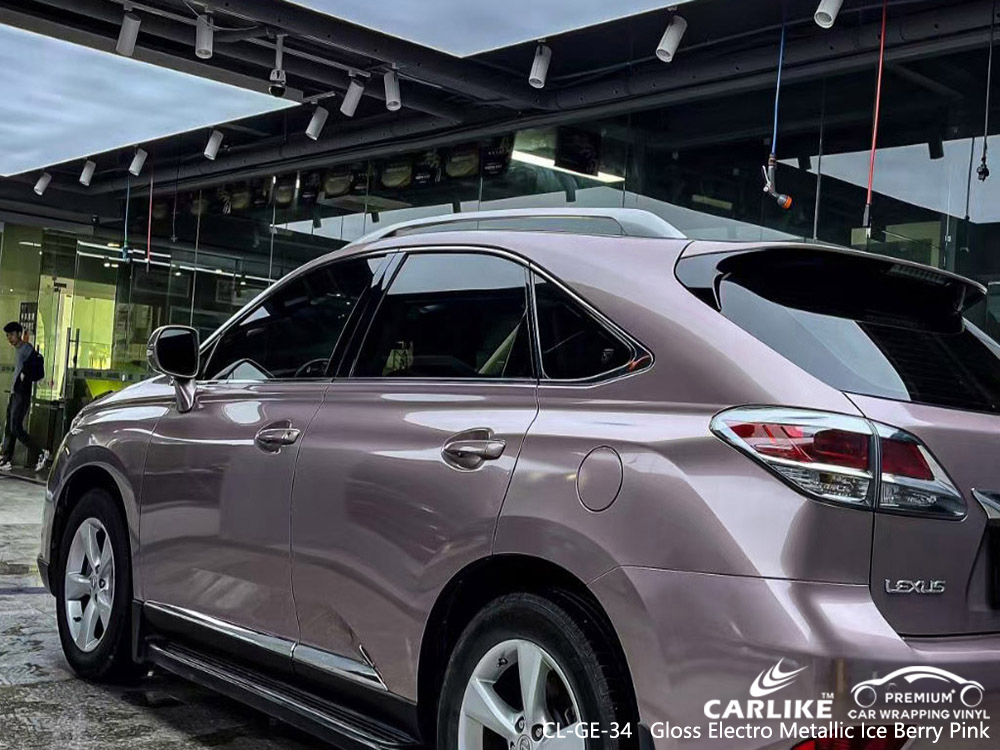 CL-GE-34 gloss electro metallic ice berry pink factory wholesale car hood vinyl wrap for LEXUS Los Banos Philippines