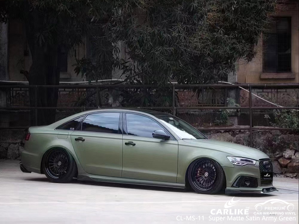 CL-MS-11 super matte satin army green self adhesive cars vinyl for AUDI Malabon Philippines