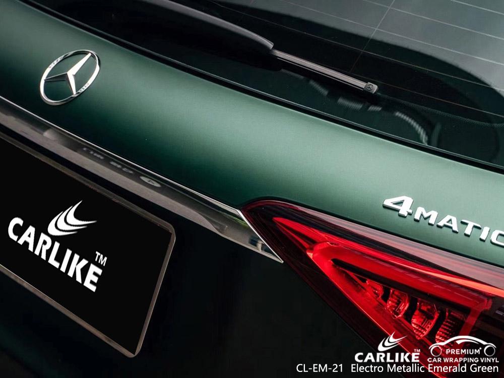 CL-EM-21 electro metallic emerald green vinyl auto wrap factory for MERCEDES-BENZ