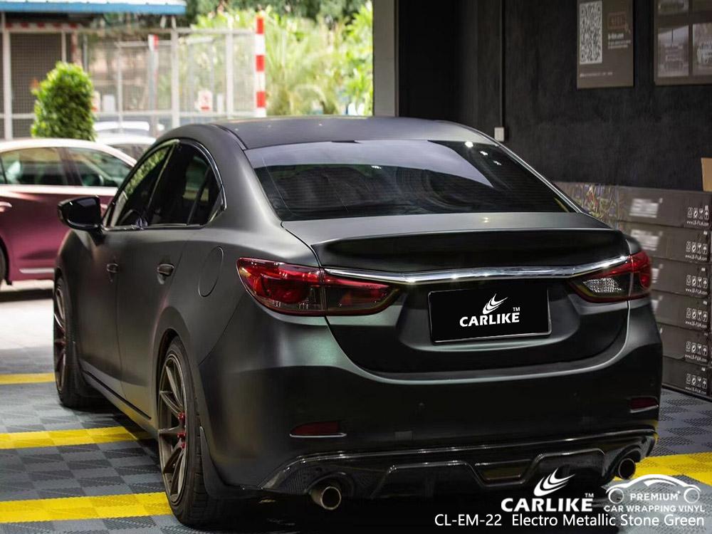 CL-EM-22 electro metallic stone green vinyl auto wrap supplier for MAZDA
