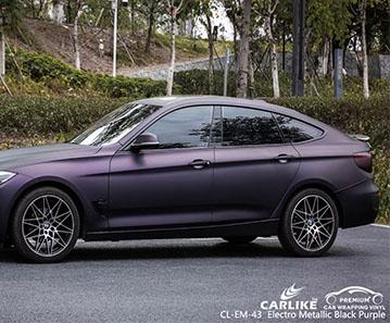 CL-EM-43 electro metallic black purple vinyl vehicle wrap manufacturer for BMW