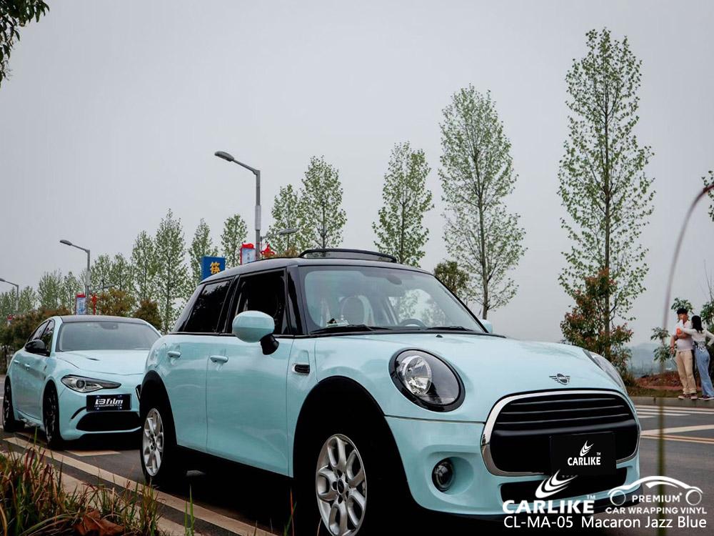 CL-MA-05 macaron jazz blue vinyl vehicle wrap factory for BENTLEY
