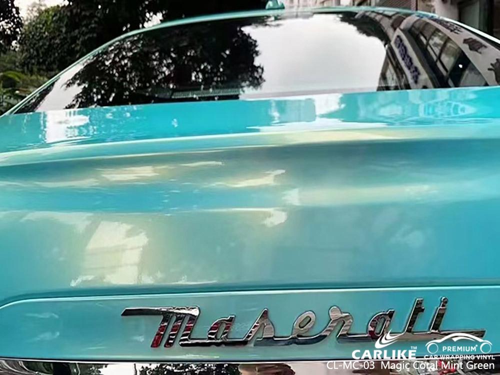 CL-MC-03 magic coral mint green vinyl auto wrap price for MASERATI