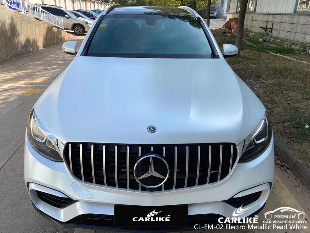 CL-EM-02 electro metallic pearl white vinyl auto wrap supplier for MERCEDES-BENZ