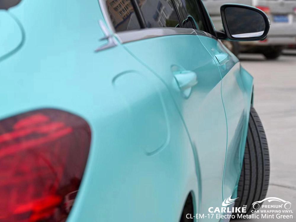 CL-EM-17 electro metallic mint green vinyl vehicle wrap manufacturer for MERCEDES-BENZ