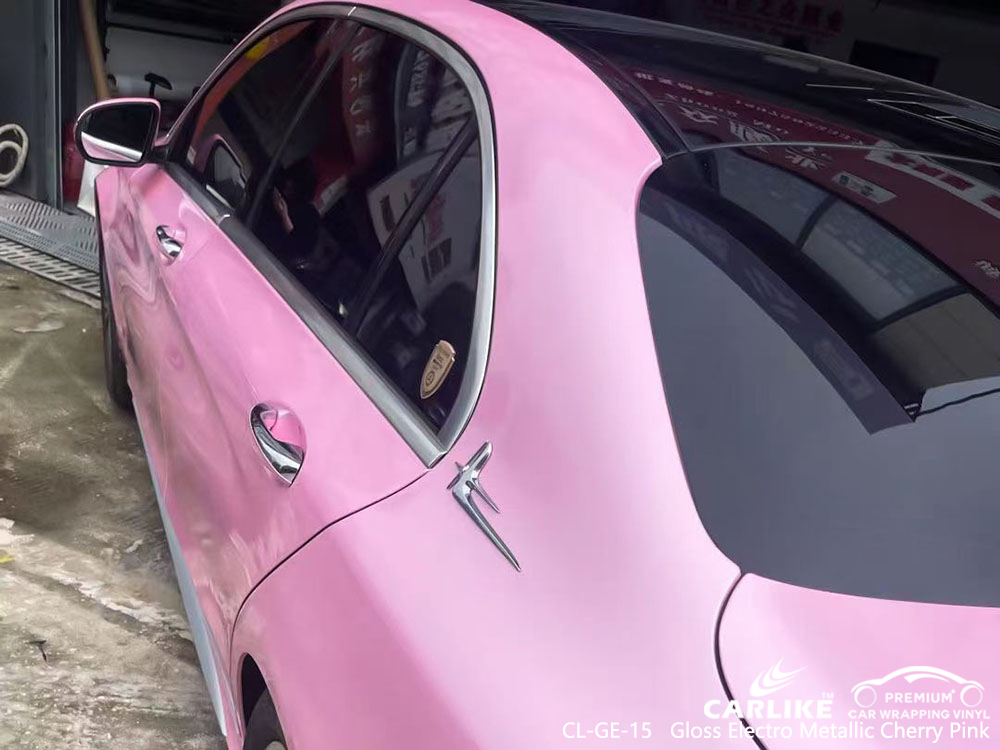 CL-GE-15 gloss electro metallic cherry pink vinyl vehicle wrap factory for MERCEDES-BENZ