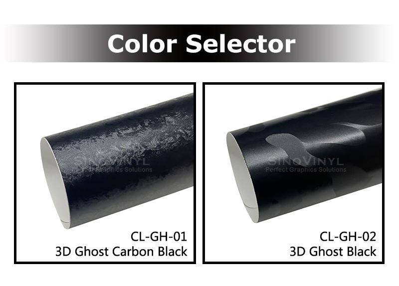 3D Ghost Camo/Carbon Black Car Wrap Vinyl Film