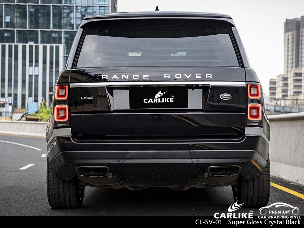 CL-SV-01 super gloss crystal black vinyl car wrap supplier for RANGE ROVER