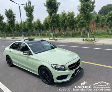 CL-SV-30 Super Gloss Crystal Khaki Green Vinyl Fahrzeugfolierung Lieferant für MERCEDES-BENZ