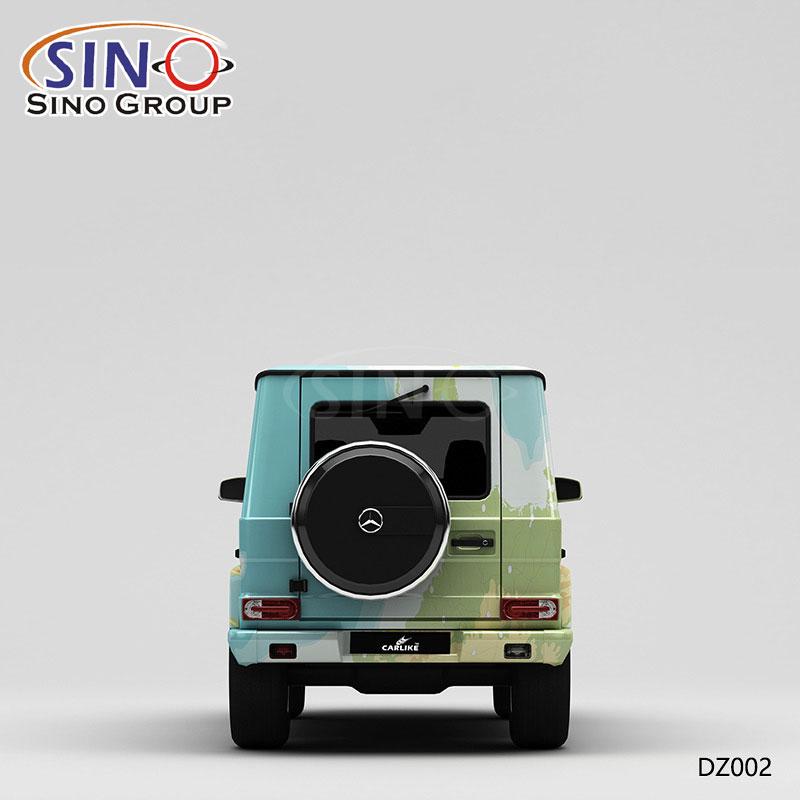 DZ002 نمط خريطة الرسم طباعة عالية الدقة مخصصة التفاف السيارة الفينيل