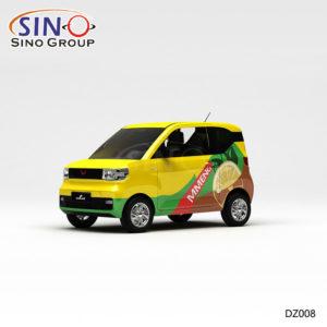 DZ008 Pattern Lemon Yellow Painting High-precision Printing Customized Vinyl Car Wrap Sticker