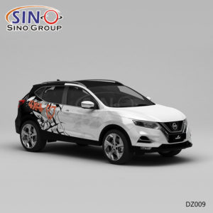 DZ009 Pattern Track Painting High-precision Printing Customized Car Wrapping Vinyl Supplier